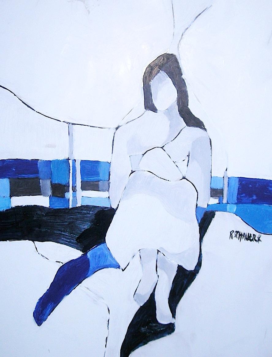 FEMME LA BRANCHE QUEBEC HUILE-PAPIER 2011